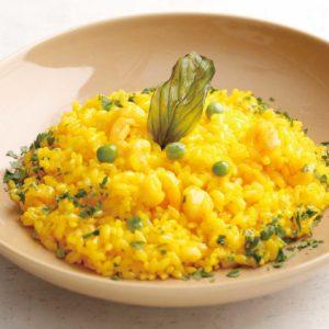 海老と高崎産野菜のサフランリゾット